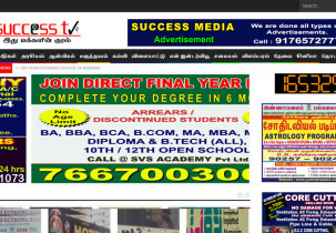 Success TV - News and Advertisement Website