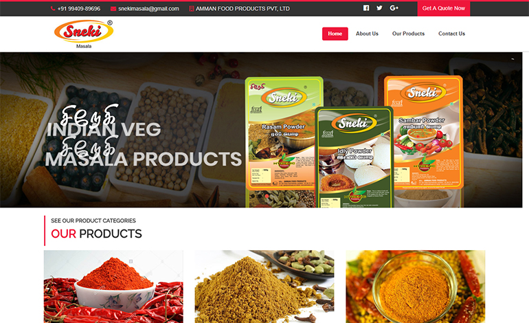 snekimasala-website